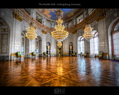 The Marble Hall - Ludwigsburg, Germany (HDR) (farbspiel) Tags: red orange history yellow phot