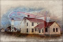 Soul Of A Lighthouse Antiqued (Imagemakercan - The Lensdancer) Tags: capa competition silvermedal alteredreality score25 extrememanipulation joygerow lensdancer totalscore98forallfourimages lighthousesporttownsendwashington 3rdplacemerit fournationscompetition canadasentry wonaplaceincanadasentry