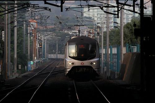 EMU arriving into Mong Kok East station