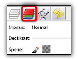GIMP und seine Kanäle-Palette