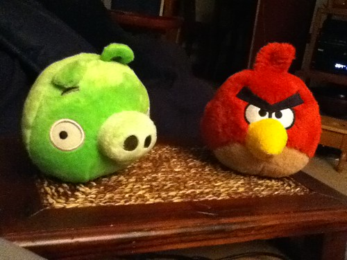 Ptw - FYE at mall had Pigs from Angry Birds!