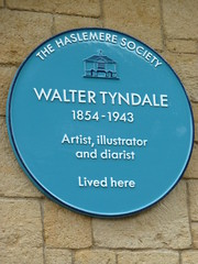 Photo of Walter Tyndale blue plaque