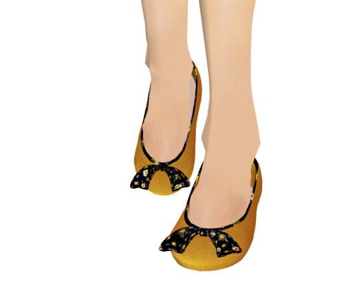 ::C'est la vie !::ballerina shoes(yellow*violabow)(Move for F)