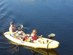 Paddling on Western Lake
