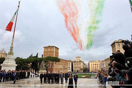 UNITA' D'ITALIA 150 ANNI: omaggio al Sacello del Milite Ignoto