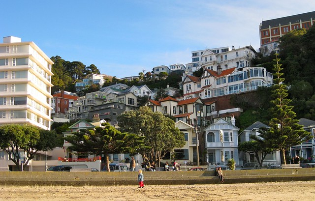 Houses at Oriental Bay, Wellington, New Zealand