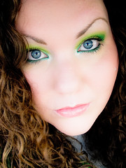 St Patricks Day Make-up (OrangeCounty_Girl) Tags: verde green me girl self myself blueeyes selfportraits curlyhair stpatricksday caucasian naturallighting greeneyeshadow hnc whitechick orangecountygirl hollyclark closeupofface peachlipgloss makeupwoman hollyclark714 holly714