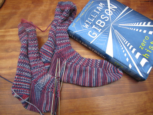 Aquaphobia socks and book in progress