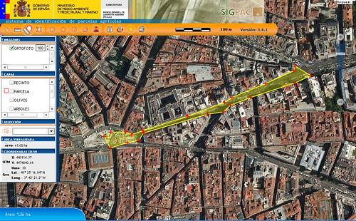 área manifestación 15M Madrid