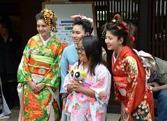 Kimono Models (JohnCramerPhotography) Tags: festival gardens japanese japanesegarden saratoga facebook hakonegardens 祭り twitter tumblr hakonematsuri pinterest hakonematsuri2011 hakonefoundation wwwhakonecom 箱根祭り copyrightjohngcramer