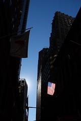 A ray of hope. Wall Street, 9:25 a.m. (BrianEden) Tags: fidi financialdistrict lowermanhattan manhattan ny nyc newyork newyorkcity wallst wallstreet