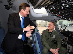 David Cameron and Wing Commander David Manning
