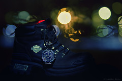 Life - A Timed Journey (bijoyKetan) Tags: life lighting light colors shoe bokeh room watch creative experiment indoors journey portraiture filters ketan canon85mm18 bijoyketan
