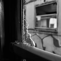 broken glass (ma[mi]losa) Tags: nikon decay brokenglass d200 stazione treno fse deposito 2011 abbandonati vetrirotti vagoni porteefinestre zollino ferroviesudest totalphotoshop mamilosa micheledefilippo marzo2011challengewinnercontest