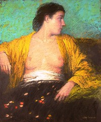 Young Woman in Yellow Blouse