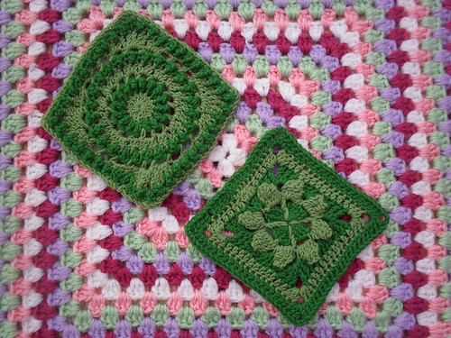 Beautiful Green Squares TGB, great patterns. I love them. Thank You!