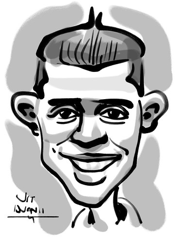 Ipad digital caricature live sketching for AES Sports Showdown - 7