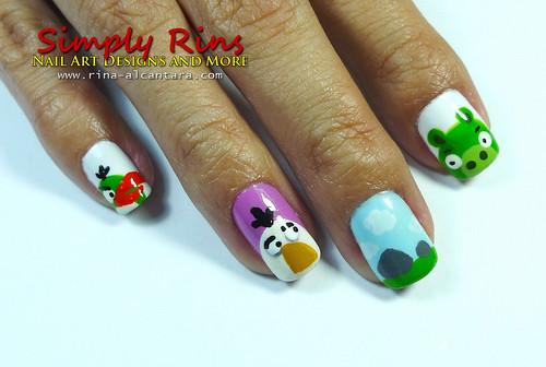 Nail Art Angry Birds 04