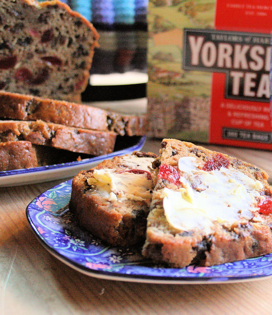 Yorkshire Tea with Mixed Spice, Cherries and Raisins and Tea Loaf with Ringtons Tea Mug and Plate!