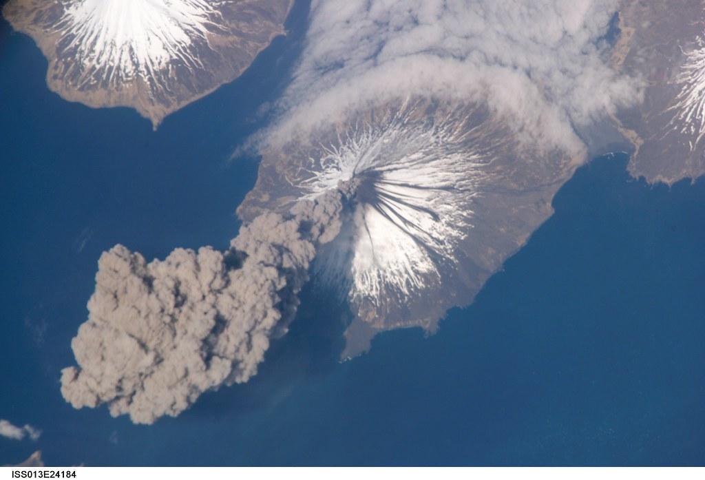 Cleveland Volcano, Aleutian Islands, Alaska (NASA, International Space Station, 05/23/06)