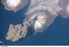 Cleveland Volcano, Aleutian Islands, Alaska (NASA, International Space Station, 05/23/06) (NASA's Marshall Space Flight Center) Tags: alaska nasa 1001nights aleutianislands clevelandvolcano stationscience crewearthobservation 1001nightsmagiccity stationresearch