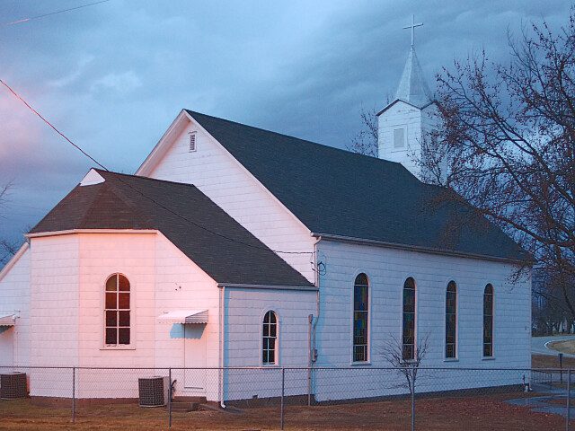 Saint Joseph Roman Catholic Church, in Highland, Missouri, USA - view from back