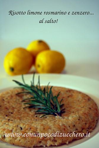 Risotto limone rosmarino e zenzero