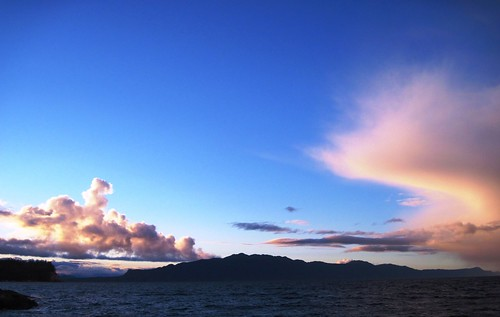 Clouds over Texada Island