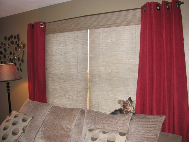 New bamboo blinds