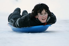 Heading right (moonfever0) Tags: snow adam driveway sledding 2011