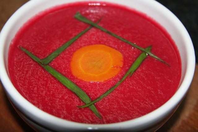 Receta: Sopa crema de Remolacha y zanahorias