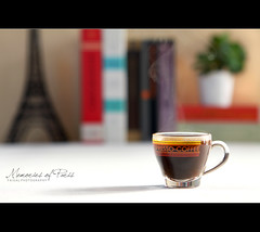 Memories of Paris (Faisal | Photography) Tags: life morning canon eos still unique smoke eiffeltower style books l usm f28 ef 2470mm italiancoffee canonef2470mmf28l 50d espressocoffee canoneos50d canon580exii memoriesofparis faisal|photography
