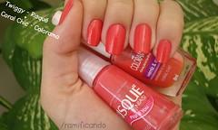 2 em 1 (Ramificando - Raíssa) Tags: 2 summer coral 1 nails verão chic em twiggy risque unha risqué esmalte mistura colorama ramificando