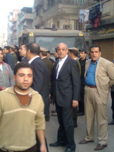 مدير امن الدقهلية فى قلب التظاهره