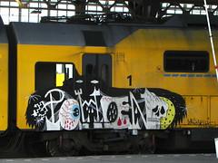 graffiti (wojofoto) Tags: holland amsterdam train graffiti ns nederland eisenbahn zug netherland cs trein wolfgangjosten wojofoto pohen