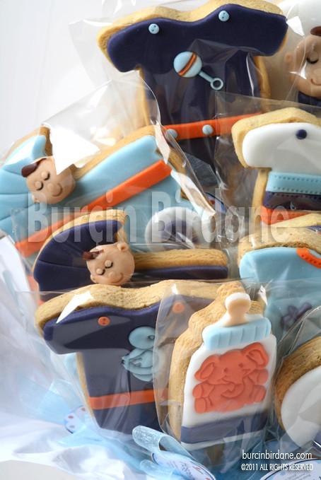 Bebek Kurabiyeleri Turuncu Mavi