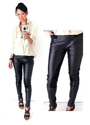Kind of Wonderful - Leather Panel Leggings