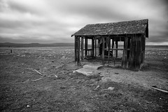 Still Standing (Christopher Bersbach) Tags: landscape lenstagged shed desaturated californiavalley carrizoplain highway58 nikkor24mmf28d silverefexpro