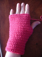 Crochet mitt done