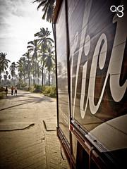 Victoria (Stromboly) Tags: costa beer mxico rural calle cerveza playa palmeras victoria vignette peple cabaas guerrero camin todoconmedida