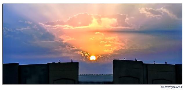 iraq sun rise.