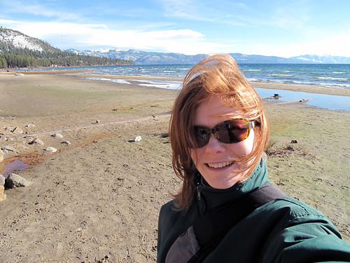 Self-portrait on the beach in Truckee, CA