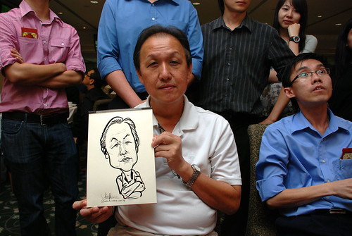 caricature live sketching for Thorn Business Associates Appreciate Night 2011 - 25