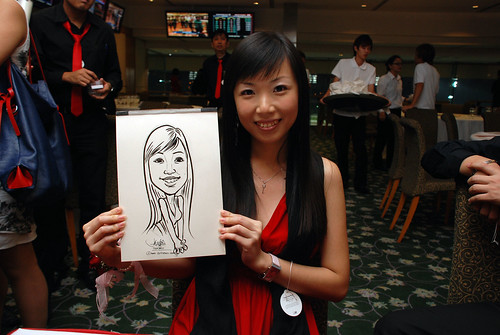 caricature live sketching for Thorn Business Associates Appreciate Night 2011 - 40