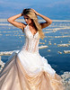 An elegant beach wedding dress