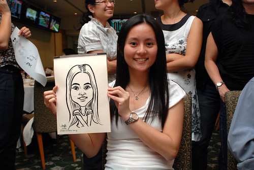 caricature live sketching for Thorn Business Associates Appreciate Night 2011 - 33