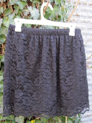 9 black lace skirt