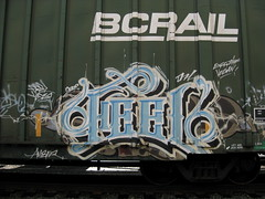 heel (NWKINGS) Tags: train bench graffiti feel boxcar dfl d7l nwkings