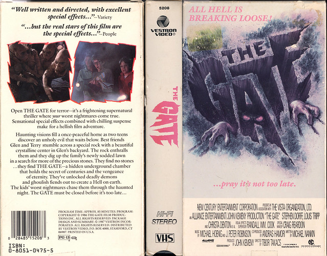 THE GATE (VHS Box Art)