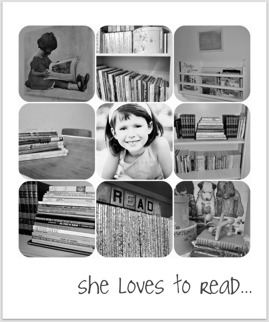 she loves to read...